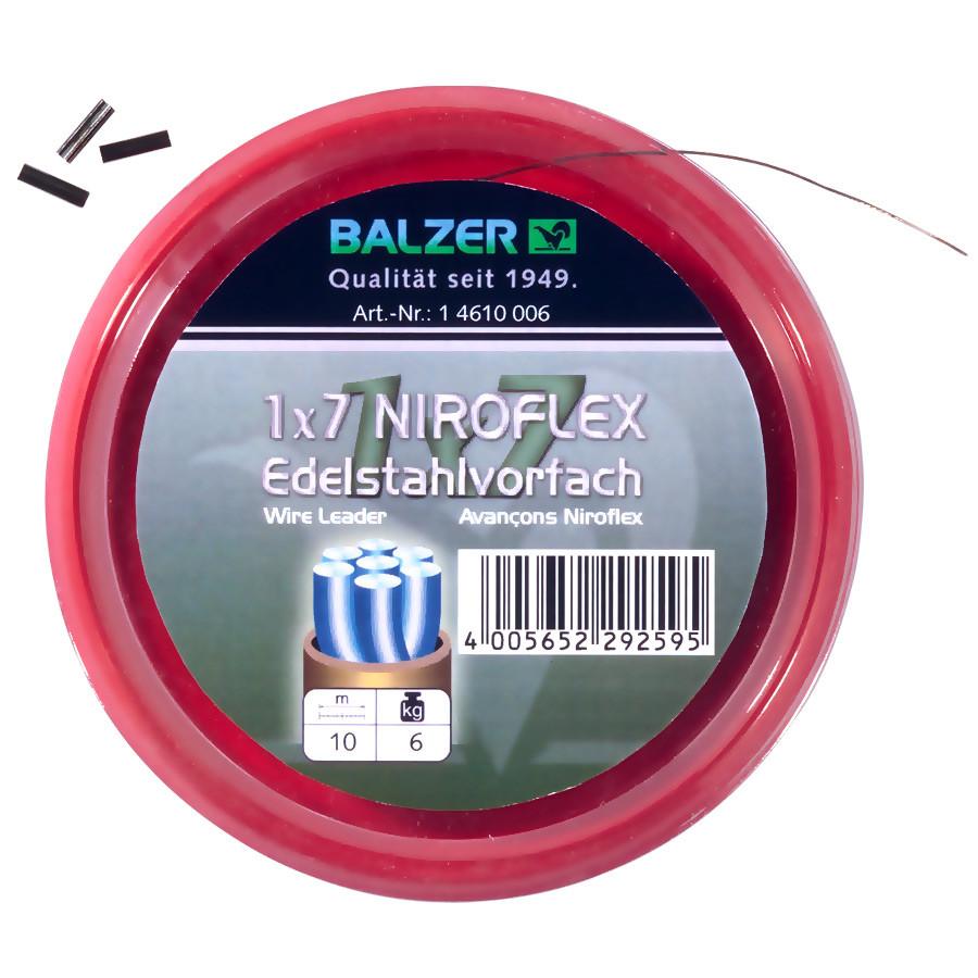 Поводочный стальной материал 1х7 Balzer +10обж.труб. 10м. 9кг. (коричневый)