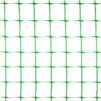 Сетка вольерная зелёная, 1,5х100 м, (ячейка: 30х30 мм, плотность: 46 г/м.кв)