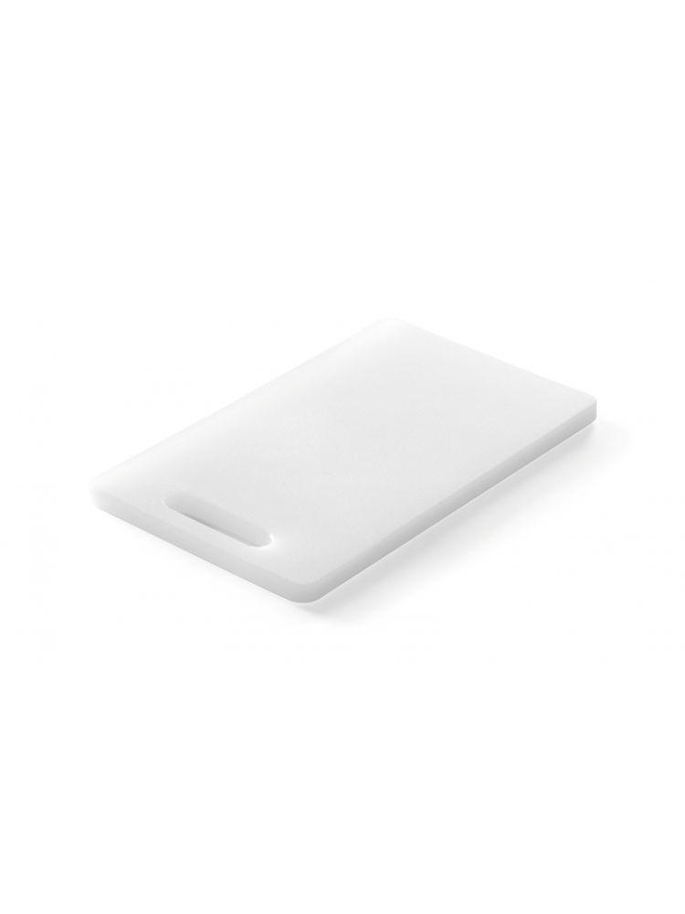 Доска кухонная Hendi НАССР белая с ручкой 25х15 см h1 см пластик (826348)