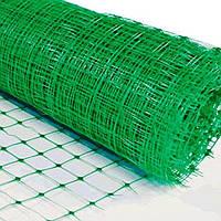 Сетка вольерная зелёная, 1х50 м, (ячейка: 30х30 мм, плотность: 50 г/м.кв)