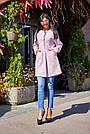 Пальто короткое букле женское демисезонное розовое, фото 5