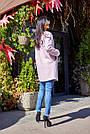 Пальто короткое букле женское демисезонное розовое, фото 6