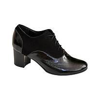 Туфли женские  Vasha Para РТ-2002 36 черная замша/лак.