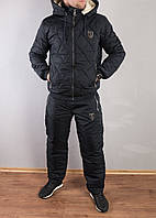Мужской теплый зимний костюм.Мужской стеганый костюм, на овчине Philipp Plein. 48, фото 1