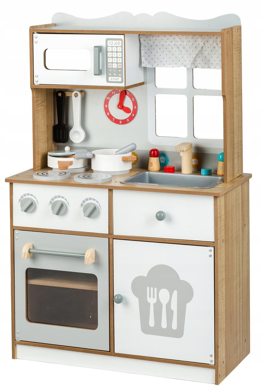"""Детская деревянная кухонная плита и аксессуары Ecotoys """"Country"""""""