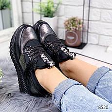 """Кроссовки женские """"Foyeze"""" черного цвета из НАТУРАЛЬНОЙ КОЖИ. Кеды женские. Мокасины женские. Обувь женская, фото 2"""