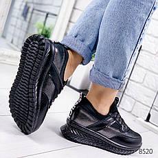 """Кроссовки женские """"Foyeze"""" черного цвета из НАТУРАЛЬНОЙ КОЖИ. Кеды женские. Мокасины женские. Обувь женская, фото 3"""
