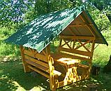 Деревянная беседка для дома «Стандарт-1» 200х200, фото 2