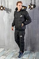 Мужской теплый зимний костюм.Мужской стеганый костюм, на овчине  Nike.ТОП качество!!!, фото 1