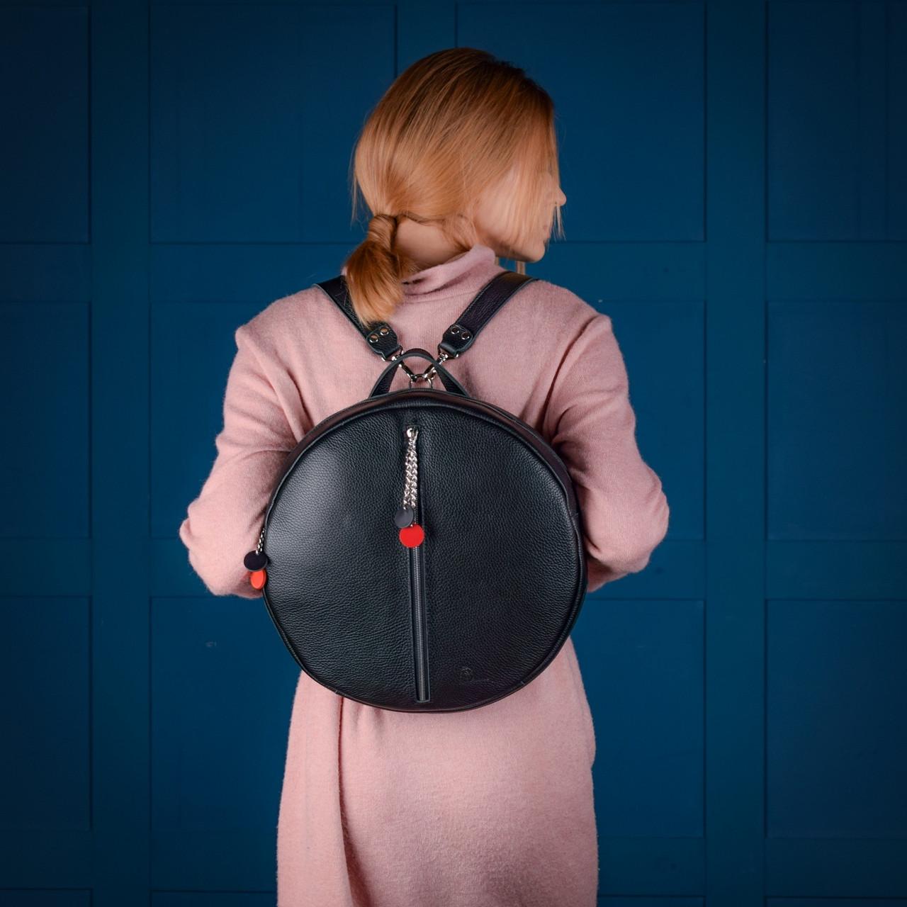 """Рюкзак жіночий міський круглий шкіряний """"Orion"""""""