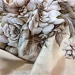 Зимняя сказка 10046-0, павлопосадский шарф шелковый крепдешиновый с шелковой бахромой, фото 5