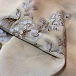 Зимняя сказка 10046-0, павлопосадский шарф шелковый крепдешиновый с шелковой бахромой, фото 10