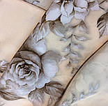 Зимняя сказка 10046-0, павлопосадский шарф шелковый крепдешиновый с шелковой бахромой, фото 8