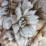 Зимняя сказка 10046-0, павлопосадский шарф шелковый крепдешиновый с шелковой бахромой, фото 6