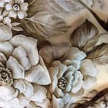Зимняя сказка 10046-0, павлопосадский шарф шелковый крепдешиновый с шелковой бахромой, фото 4
