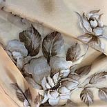 Зимняя сказка 10046-0, павлопосадский шарф шелковый крепдешиновый с шелковой бахромой, фото 9