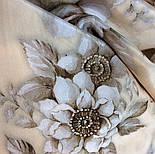 Зимняя сказка 10046-0, павлопосадский шарф шелковый крепдешиновый с шелковой бахромой, фото 7