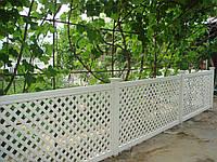 Пластиковый забор с решетки