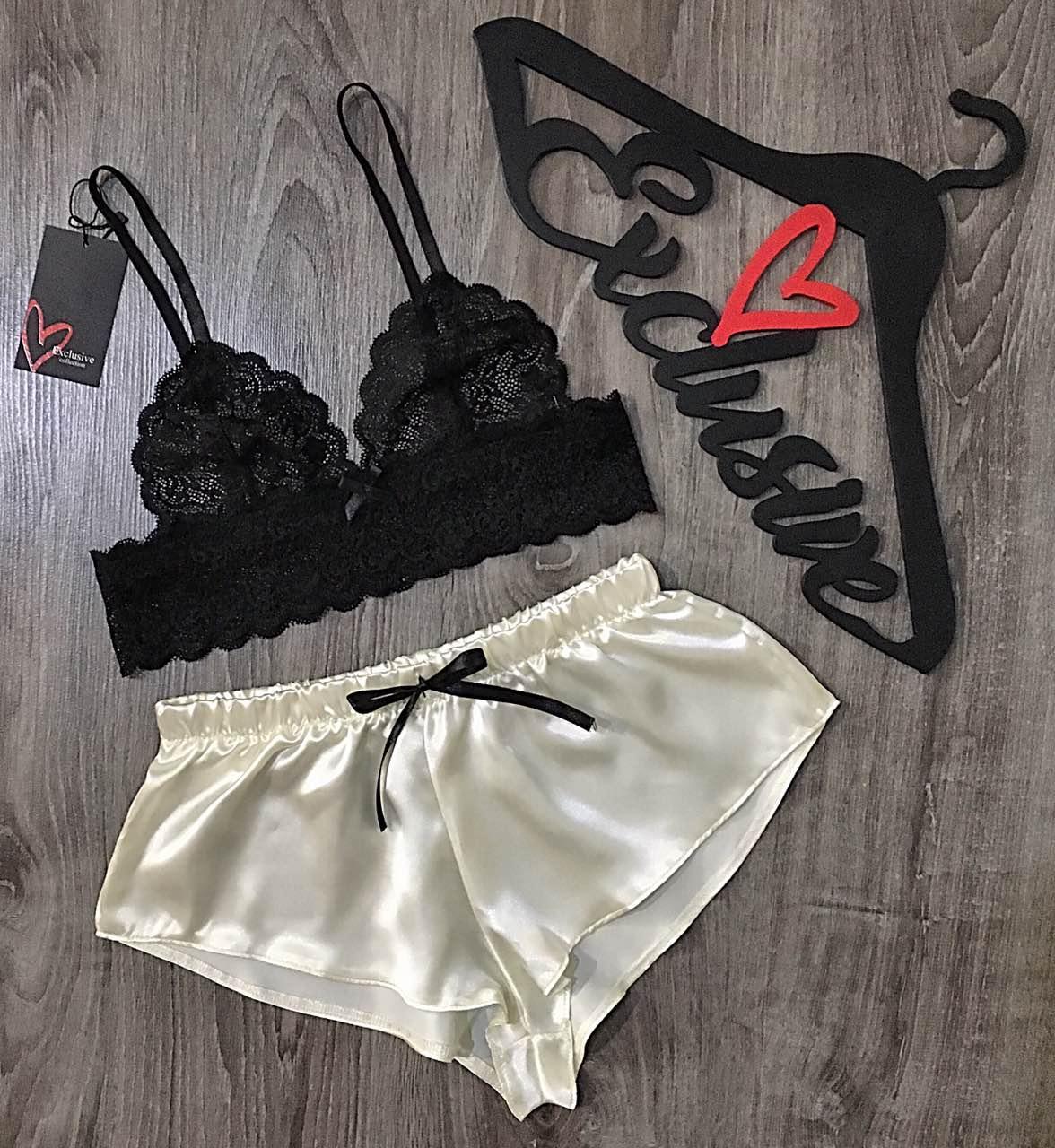 Женский набор для сна и отдыха, бюстгальтер и шорты