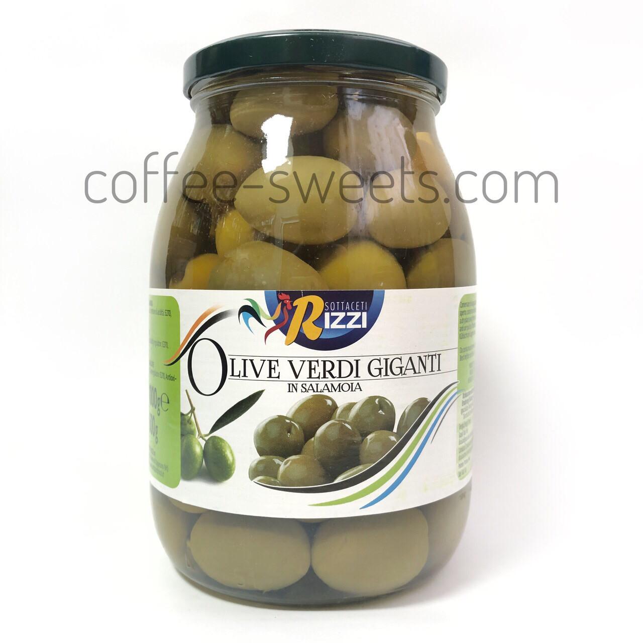 Оливки Olive Verdi giganti Rizzi 1000 гр