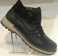 Ботинки на байке мужские кожаные от производителя модель Г2117Д