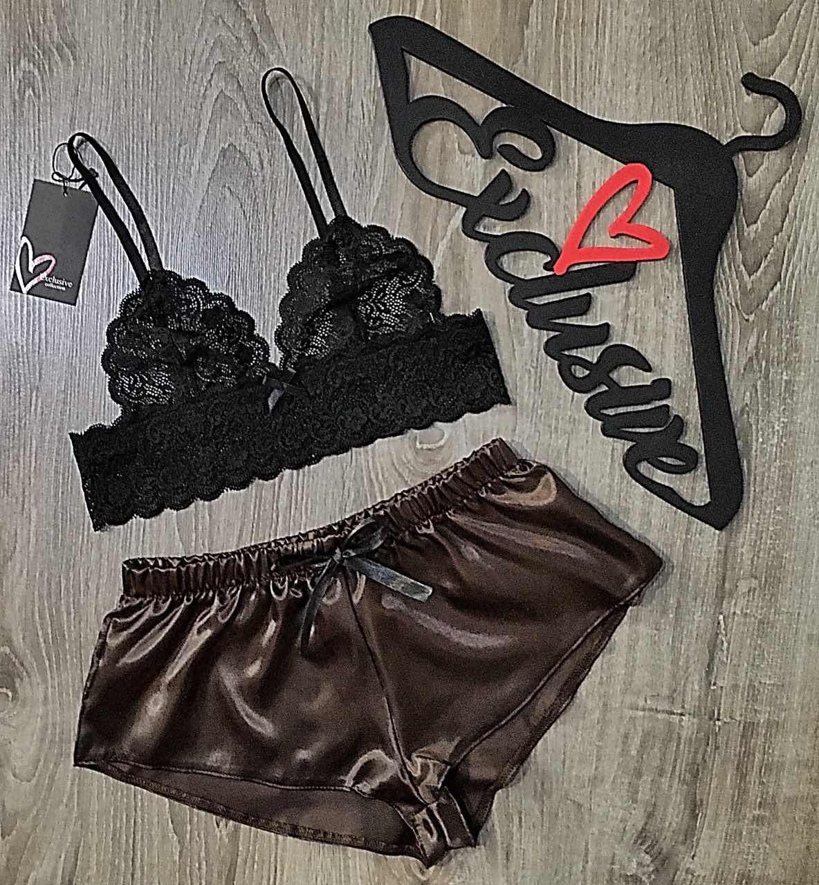 Бюстгальтер и шорты, женский комплект белья
