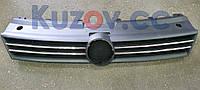 Решетка радиатора Volkswagen Polo V '09-15 (два хром молдинга) (FPS) 6RU853653