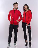 Спортивный костюм Adidas без капюшона.Костюм женский . ТОП качество!!! Реплика, фото 1