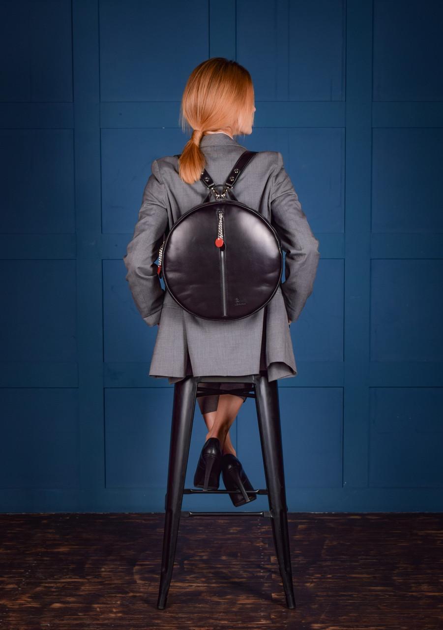 """Рюкзак жіночий круглий шкіряний """"Orion"""""""