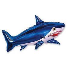 Фольгована кулька велика фігура Акула 75х105 см Flexmetal