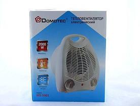 Бытовой электрообогреватель с регулятором | Тепловентилятор | Дуйка Domotec MS-59012000 W, фото 3