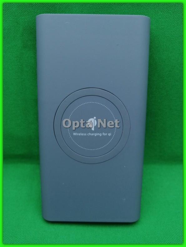 POWER BANK с беспроводной зарядкой QI Grey 20000 мАч