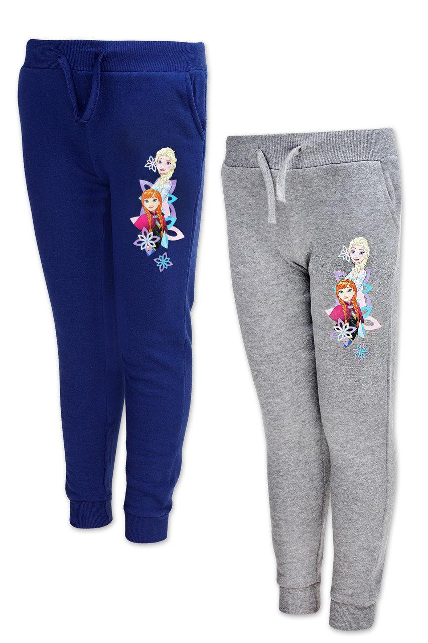 Штаны  для девочек на флисе оптом, Disney, 104-140 см, арт. FR-G-JOGPANTS-44