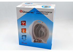 Электрообогреватель с регулятором   Тепловентилятор   Калорифер   Дуйка  Domotec MS-5902 (2000 W), фото 2