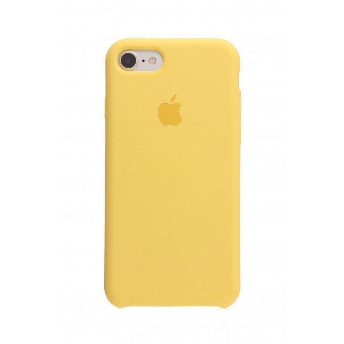 Силиконовый чехол бампер для Apple iPhone 7 / 8 желтый