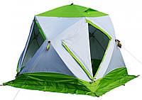 Зимняя зеленая палатка Лотос Куб 3 Компакт Термо, фото 1