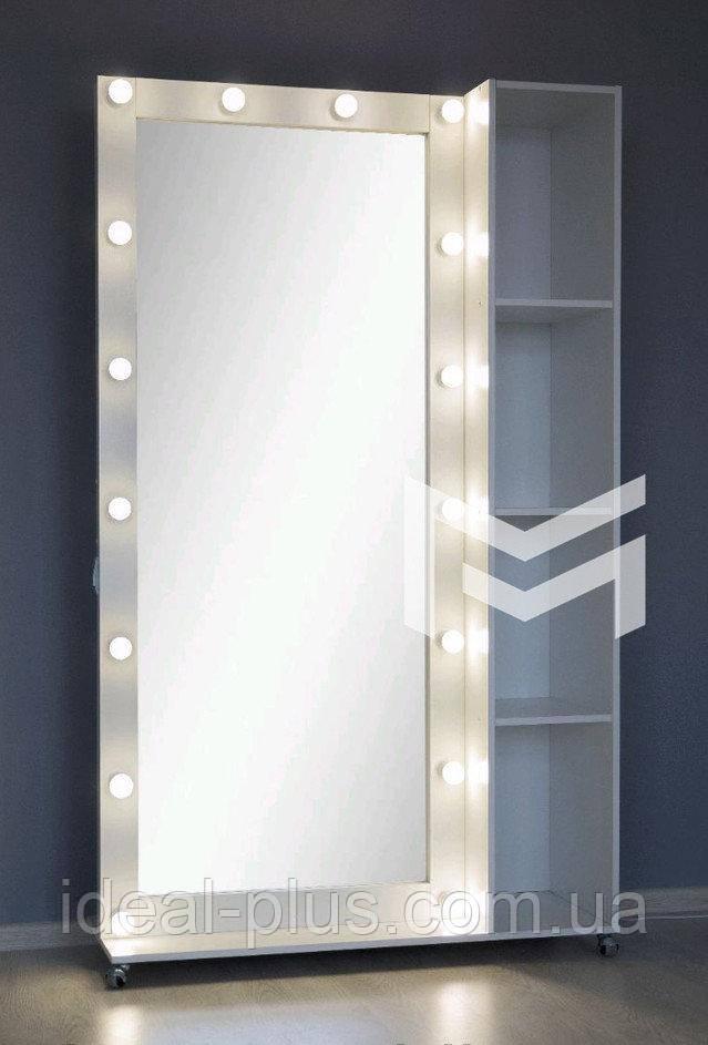 Купить Зеркало с полочкой и лампами М409, МарксонМеблі