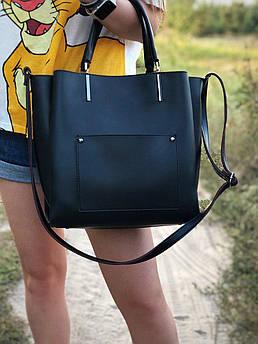 Вместительная женская сумка с длинным ремешком