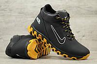 Мужские кожаные зимние кроссовки Nike натур кожа  (Реплика)