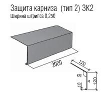Капельник RAL  3005 - Карнизная планка тип 2 - 0,47 мм Мат Италия