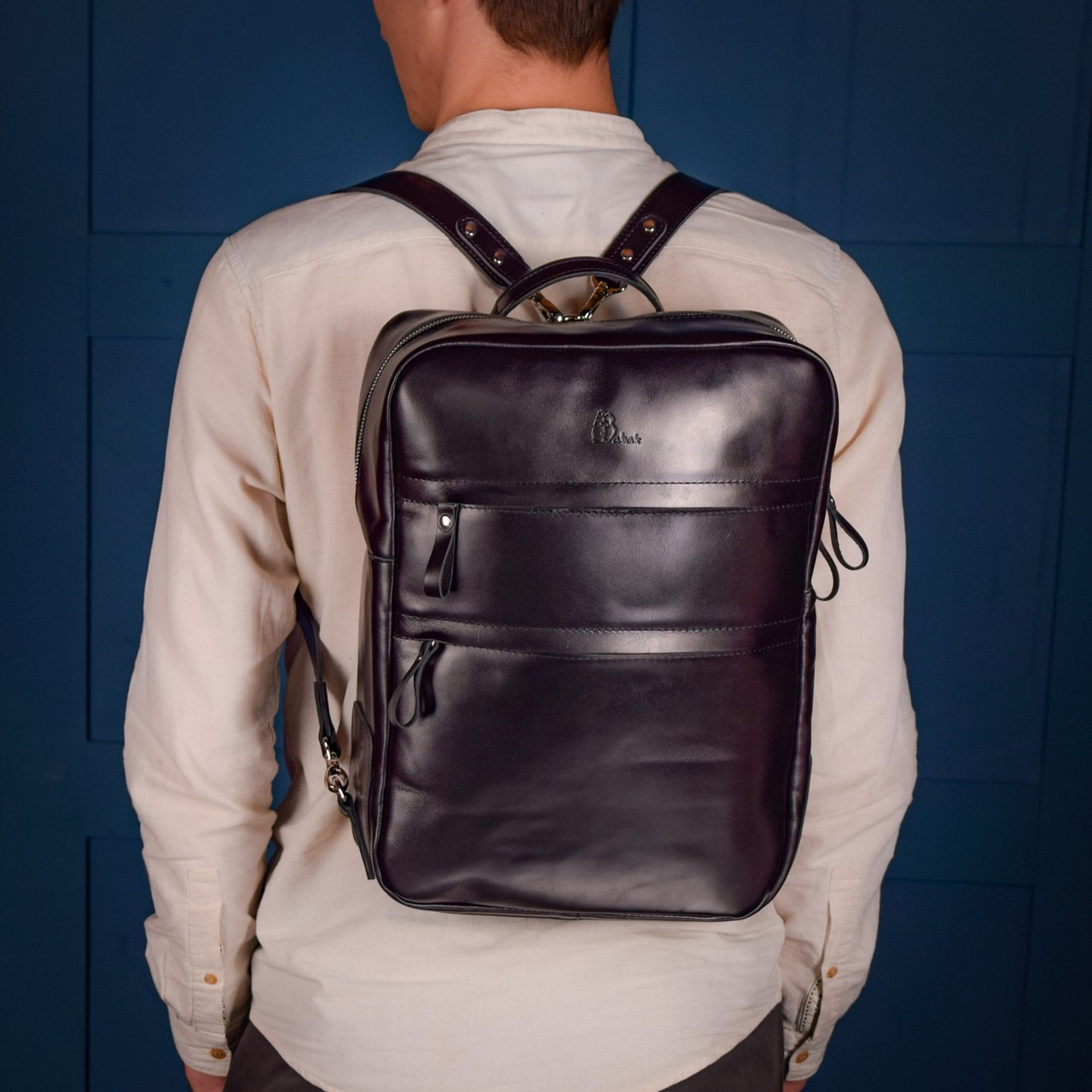 """Рюкзак городской мужской кожаный ручной работы """"Taurus"""""""