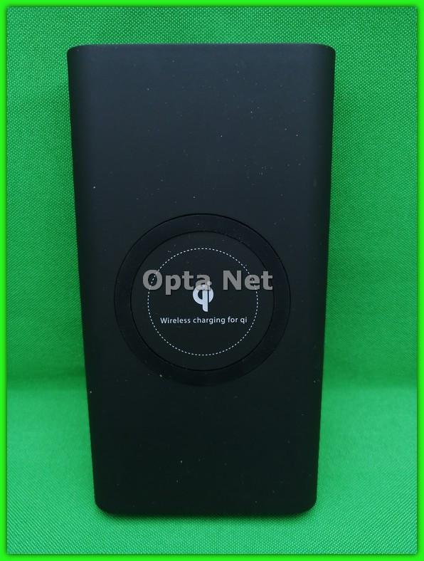 POWER BANK с беспроводной зарядкой QI Black 20000 мАч