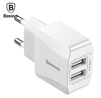 Сетевое зарядное устройство Baseus 2.1A (GS518) , 2 USB-порта White