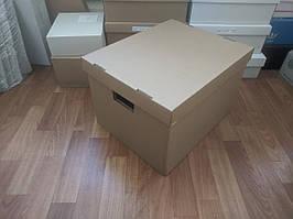 Коробки для документов. Архивные коробки. Архивные боксы 395x323x270 мм. коричневые