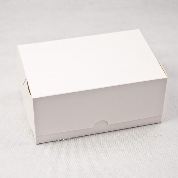 """Картонная коробка для конфет и макаронс """"Белая 18*12*8 см"""" 5 шт"""