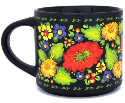 """Чашка """"Цветочный орнамент"""" 450 мл."""