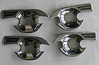 Mitsubishi Outlander 2015 накладки хром под дверные ручки тип B