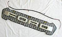 Ford Ranger  T7 решетка радиатора LED габариты стиль Raptor лого Silver