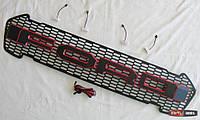 Ford Ranger T7 решетка радиатора LED габариты 4 черный лого красный кант