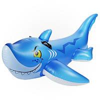 Игрушечная акула для деток, Интекс 56567, из винила 0,3 мм, с держателями, 107*140см, надувное изделие